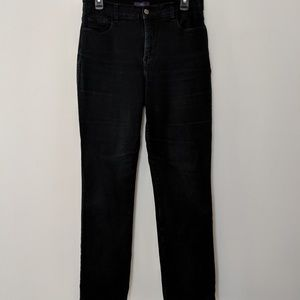 NYDJ straight leg jeans super dark wash Sz 10